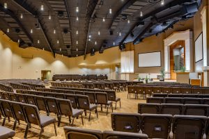 New LED sanctuary lighting at Highland Church of Christ.