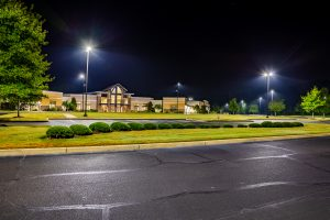 Highland Church of Christ LED parking lot conversion